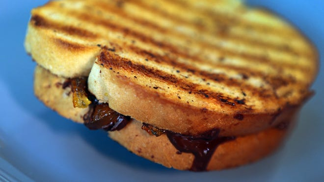 Grilling season is here. Some grilling foods for menu include this Grilled Chocolate Marmalade Sandwich.