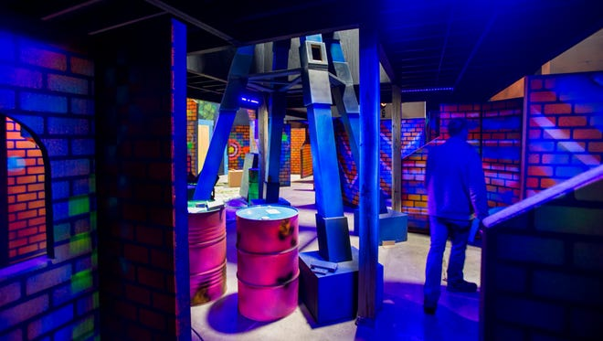 The laser tag area at The City Forum.