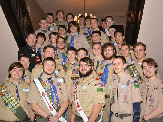 Eagle Scout Class of 2015 was recognized at a reception