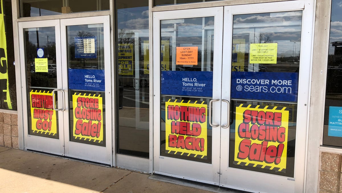 Sears at the Ocean County Mall in Toms River closed its doors on April 8, 2018.