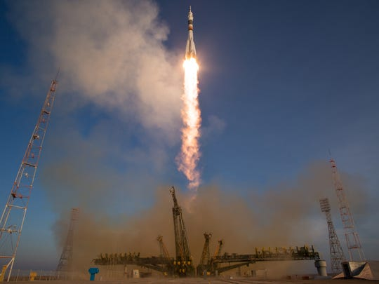 The Soyuz TMA-19M rocket is launched with Expedition