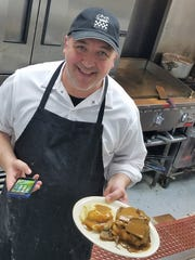 Joe Schabani takes pride in making all his soups, sauces and gravies from scratch--such as the beef gravy on the very popular open face roast beef sandwich.
