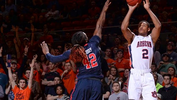 Auburn guard Bryce Brown was held to just nine points