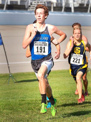Lakeland junior Harrison Gryzmkowski will be the lead runner once again for the defending Division 1 champions.