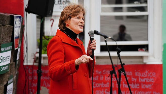 U.S. Sen. Jeanne Shaheen, makes a stop at the Freedom Cafe in Durham.