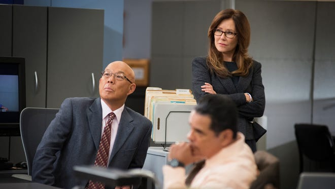 "'Major Crimes' fans will have a hard time getting anything done on Monday, thanks to a 10-episode marathon that concludes with the summer finale at 9 ET/PT.  MAJOR CRIMES: Description/ I.D.: (left to right) Michael Paul Chan, Mary McDonnell, Raymond Cruz  ""Backfire"" / Ep 210  TNT  Ph: Eddy Chen"