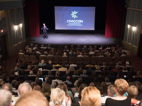 Quint Studer opens Wednesday night's session of CivicCon