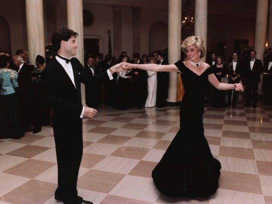 John Travolta dances with Princess Diana at a White
