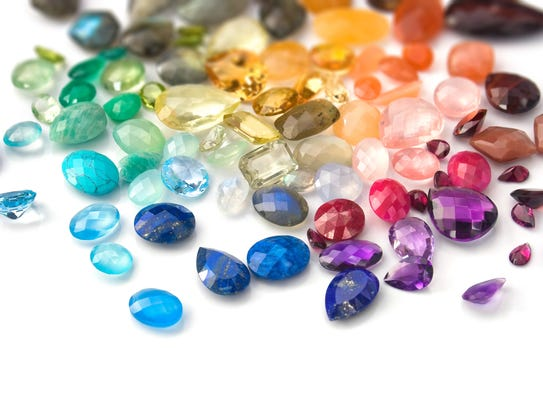 Gemstones of all different colors are a popular option.