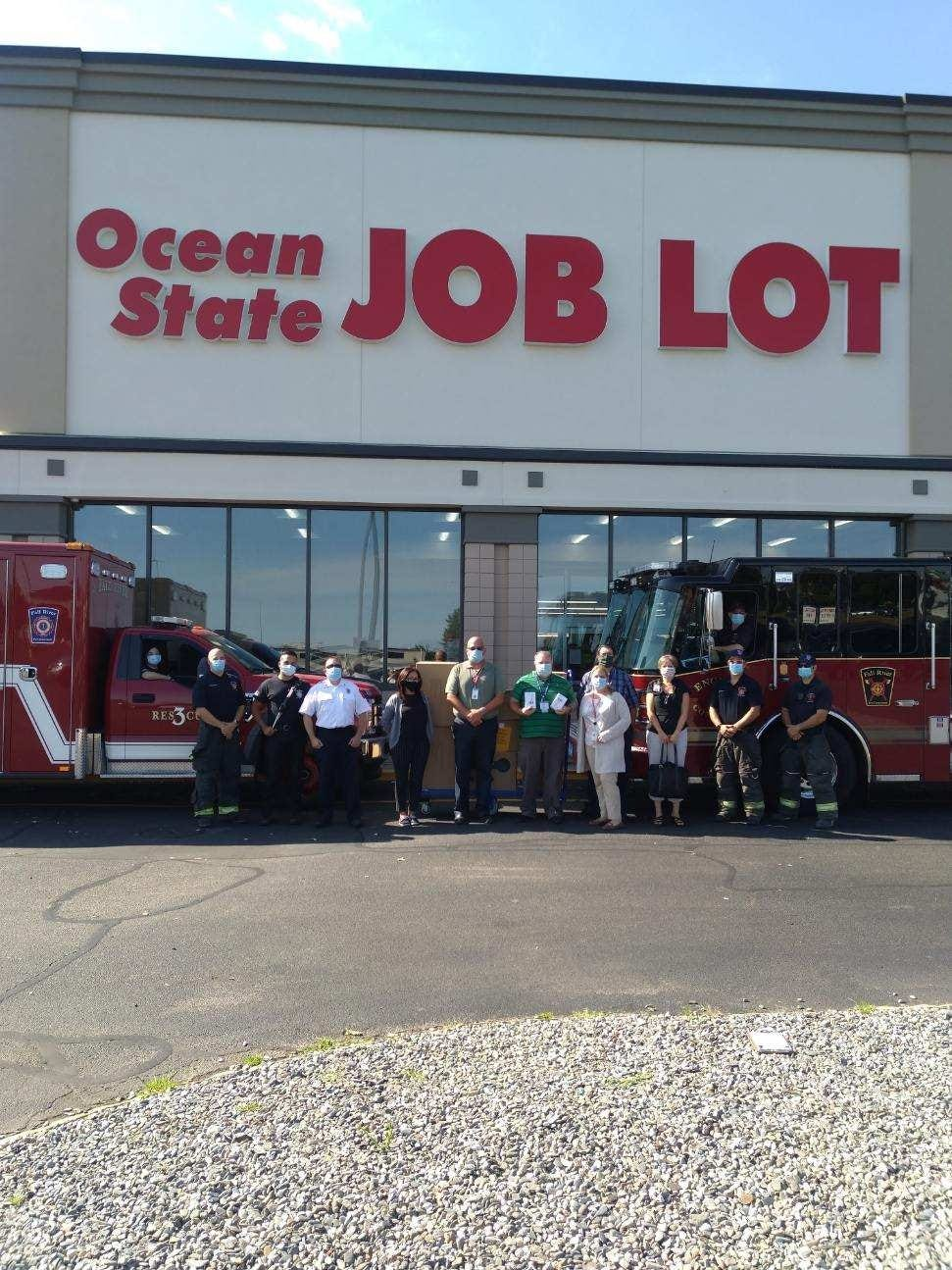 Ocean State Job Lot donates PPE to Fall River Fire Department