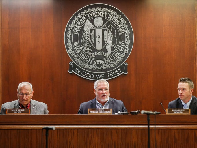 Greene County Commissioners, from left, Harold Bengsch,