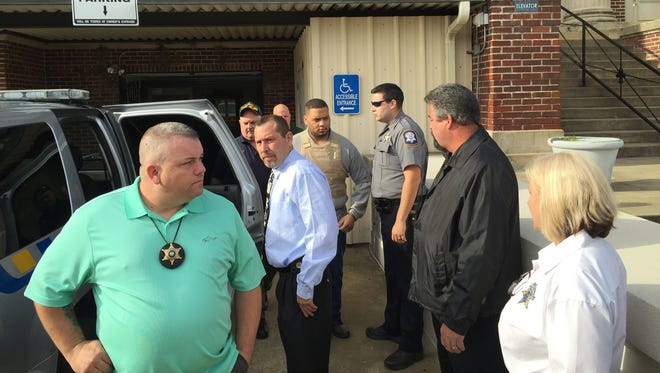 The attorneys for Derrick Stafford, one of two men accused in the shooting death of 6-year-old Jeremy Mardis (shown here being escorted out of the Avoyelles Parish Courthouse), will file a motion for a change of venue in the case, according to one.