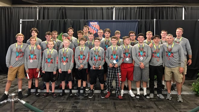 Oak Harbor's team finished sixth at the AAU national wrestling tournament at Disney World.