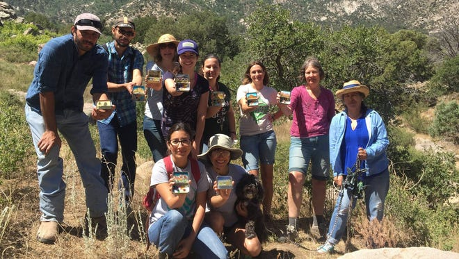 Community paint-along at Aguirre Spring with May 2017 OMDP Artist in Residence Heidi Annalise of Denver.