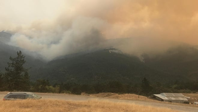 Increased winds resulted in erratic fire behavior Monday on the Chetco Bar Fire in southwestern Oregon.