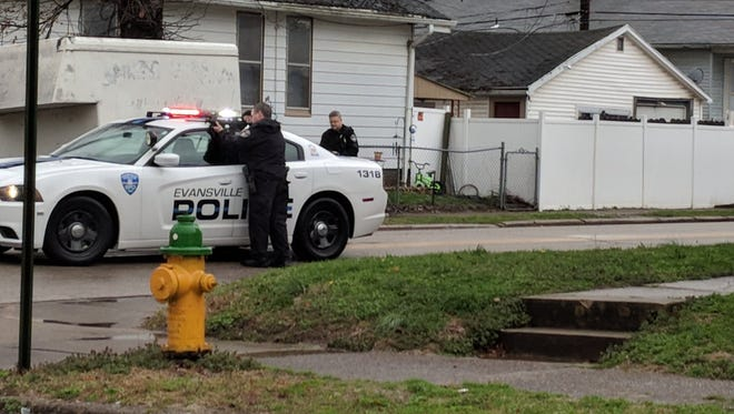 Evansville police investigate a shooting on Evansville's South Side.