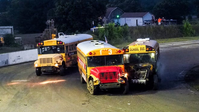 Galesburg Speedway is hosting its annual School Bus Figure Eight Race on Sunday.