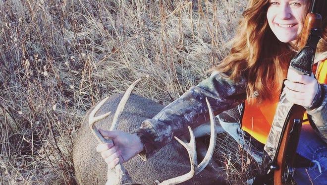 Torre Harpole, 13, got this mule deer buck north of Great Falls.