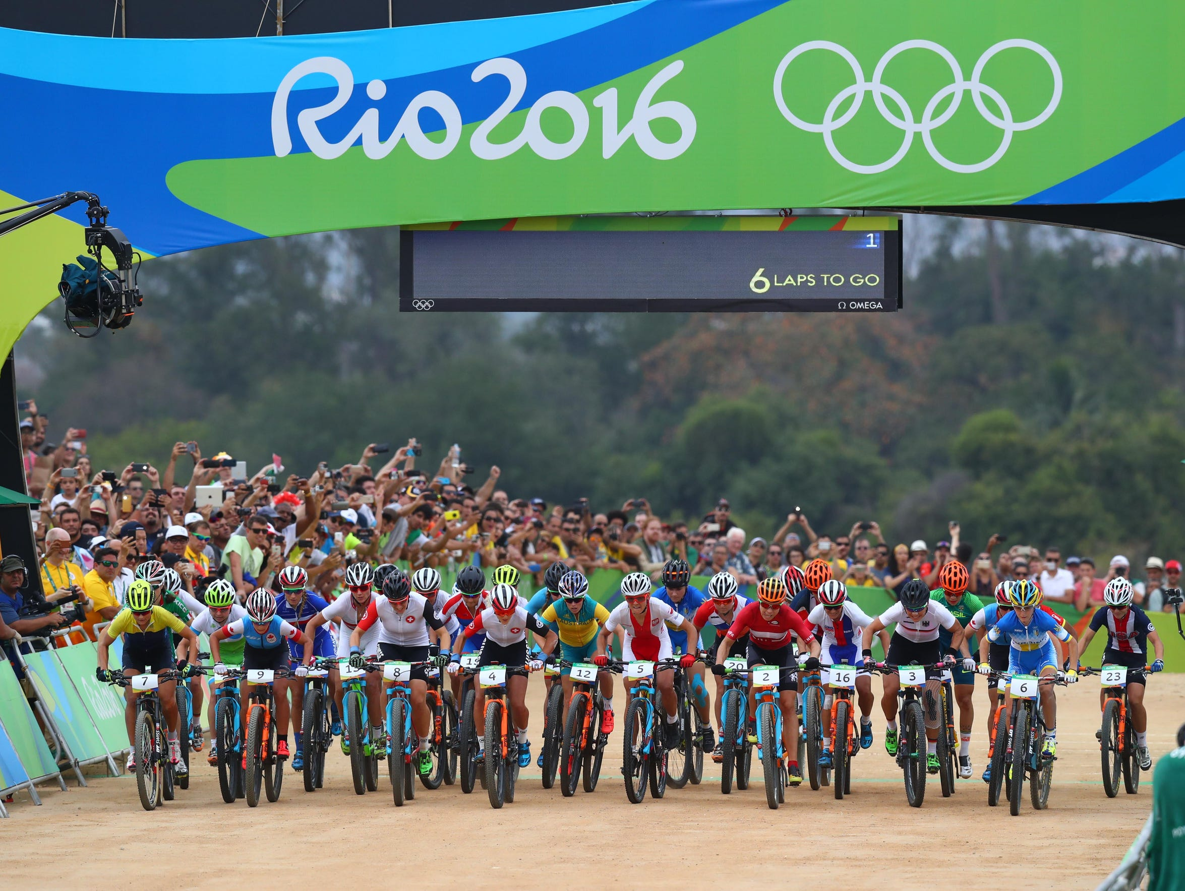 Women cyclists compete in the 2016 Olympic Games in Rio de Janeiro. Many governing bodies, such as USA Cycling, have adopted the International Olympic Committee's transgender guidelines.