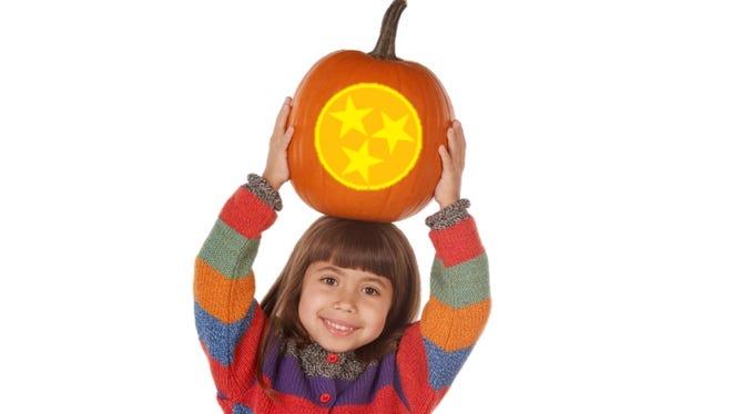 State flag pumpkin