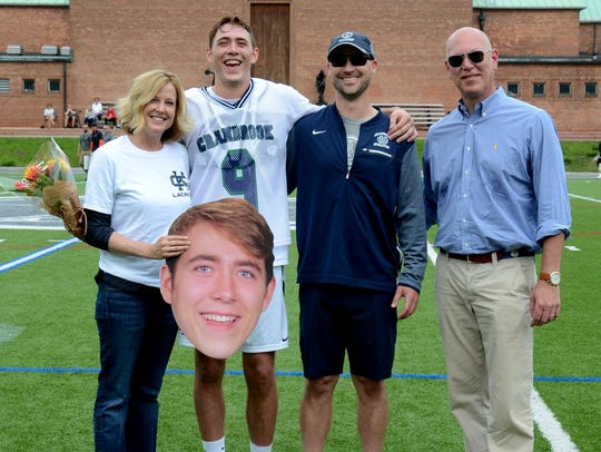 Air Force-bound Davis Schiller (9) celebrated Cranbrook