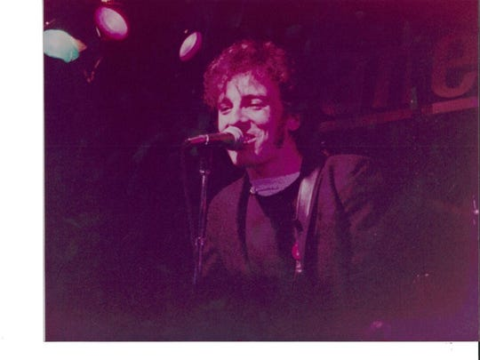 Bruce Springsteen performs at the Fast Lane in Asbury Park with John Cafferty and the Beaver Brown Band, 1979.