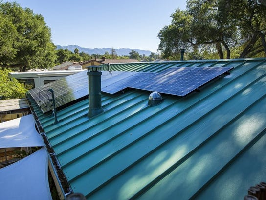 CONTRIBUTED PHOTO/LOGAN HALL PHOTOGRAPHY Solar panels on a Ventura County home.