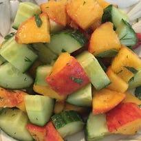 Peach Cucumber Salsa