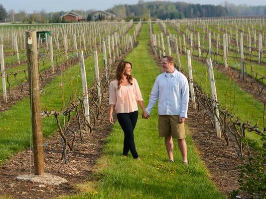 FOX 11's Emily Deem with fiance Bryan Hansen