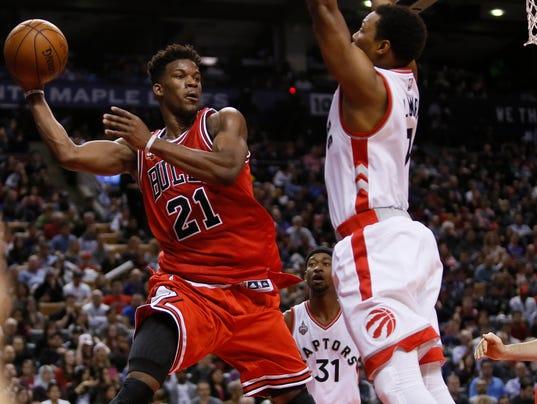 USP NBA: CHICAGO BULLS AT TORONTO RAPTORS S BKN CAN ON