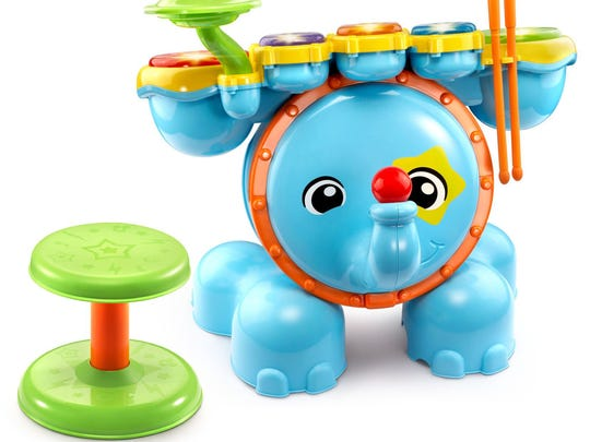 These 45 toys and products have earned the NAPPA seal of approval in 2017. Pictured is the Zoo Jamz Stompin' Fun Drums™.