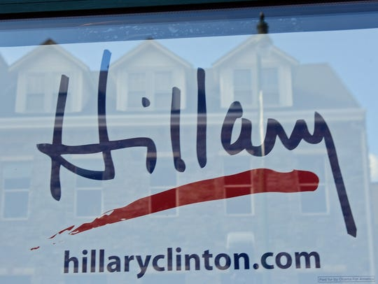 The local Hillary Clinton presidential campaign headquarters