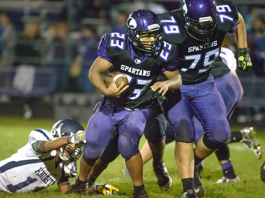 Lakeview running back CJ Foster has helped the Spartans to a 5-2 record and a spot in the playoffs.