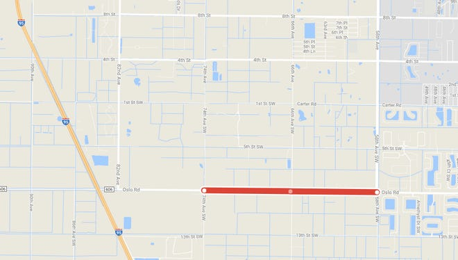 Lane closures on Oslo Road may cause delays between  Nov. 6 and Nov. 22.