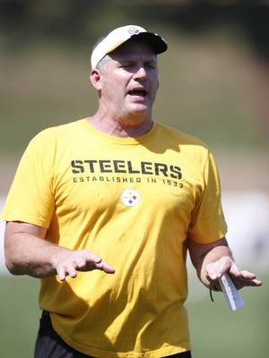 Pittsburgh Steelers offensive line coach Mike Munchak is a candidate for the Cardinals job.