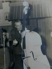 "Leonard ""Luigi"" L. DiNunzio and his bass"