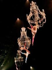 """""""Chandeliers"""" in Cirque du Soleil's """"Corteo,"""" 2015"""