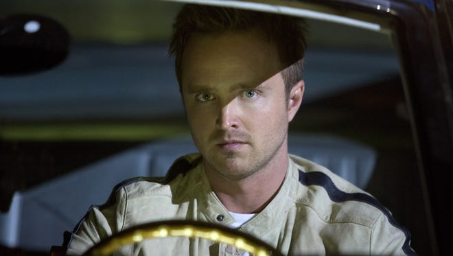 """This image released by DreamWorks II shows Aaron Paul in a scene from """"Need for Speed"""""""