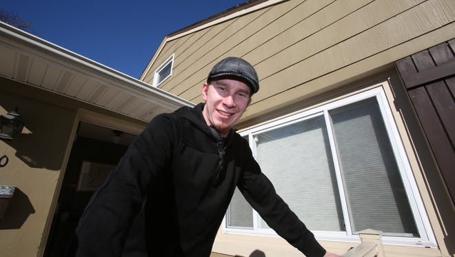 First-time homebuyer Brendan Waldron in his New City home March 18, 2014.