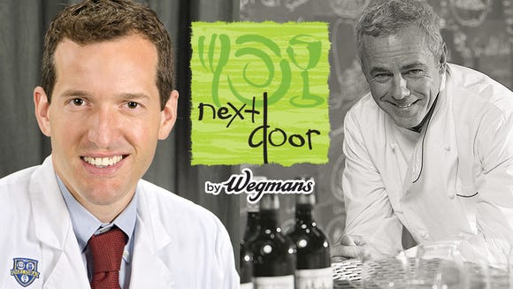 Dr. Thomas Campbell, left, teams up with chef David