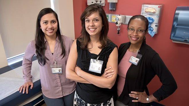 Members of the University of Mississippi Medical Center's new adolescent medicine team are from left Dr. Maria Demma Cabral, from left, division chief Dr. Sadhana Dharmapuri and Dr. Nneka Holder.