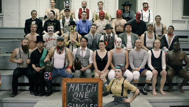 """Characters of Olde Wrestling's """"A Bonanza of Bodyslams"""" event taking place Saturday Nov. 7 at Cornerstone Center for the Arts."""