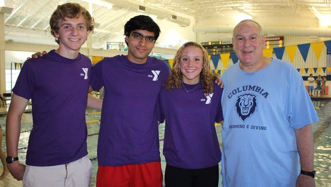 Each year Saturdays in Motion Founder Art Raynes (right) selects teen SIM volunteers in their junior year of high school to run the fundraiser. This year's co-organizers are (left to right) Ryan Buchser of Chatham, Raveesh Koul of Basking Ridge and Mary Laurita of Mendham.