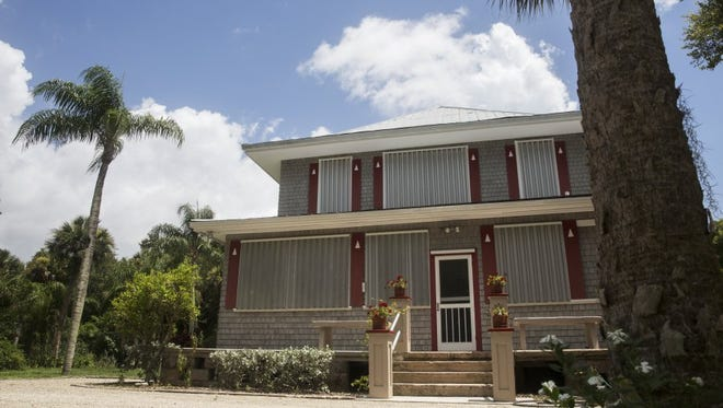 The historical Boomer House, built in 1917 and located off U.S. 41 in Estero, was broken into over the holiday weekend. The uninvited guests entered the house through the side door.