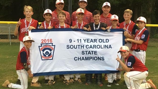 Greenville won the South Carolina Little League 9-11-year-old state championship by defeating Laurens at Friars Gate Park in Irmo Tuesday night.