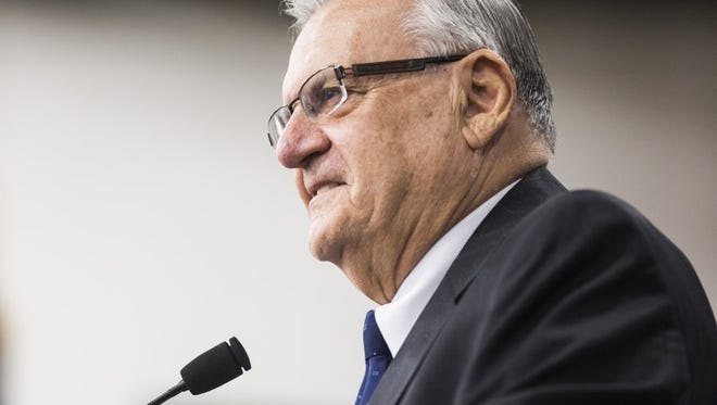 Maricopa County Sheriff Joe Arpaio speaks at the Faith and Freedom barbecue, hosted by U.S. Rep. Jeff Duncan, on Monday, August 22, 2016, at the Civic Center of Anderson, S.C.