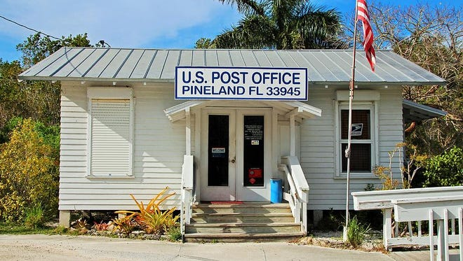 The Pineland Post Office is a wood-floored, one-room relic of pioneer Florida—originally located waterside for the convenience of the island mail boat.
