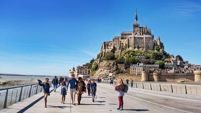 Several million visitors — and a steady trickle of pilgrims — flood the single street of the tiny island of Mont Saint-Michel each year.