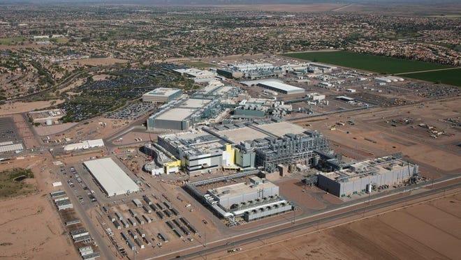 Intel's fabrication plant 42 in Chandler, Arizona.