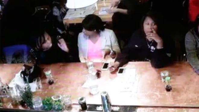 This image is from security video taken at the Blufin Sushi restaurant in Grosse Pointe Farms.
